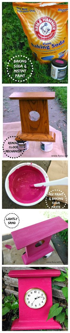 DIY Challk Paint cup latex paint, cup baking soda and 3 Tbls water Diy Projects To Try, Craft Projects, Make Chalk Paint, Diy Painting, Painting Recipe, Do It Yourself Home, Paint Furniture, Tricks, Diy And Crafts
