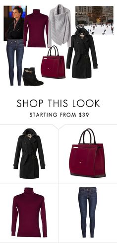 """Ice Skating with Spencer Reid"" by kayla250 ❤ liked on Polyvore featuring Burberry, Cambiaghi, DKNY, Helmut Lang, H&M and Chinese Laundry"