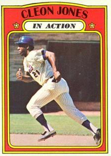 1972 Topps - Cleon Jones - In Action Card Mets Baseball, Pro Baseball, Football And Basketball, Baseball Cards, Ny Mets, New York Mets, New York Giants, Cincinnati Reds, Venezuela