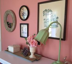 Benjamin Moore Custis Salmon makes this little girl's bedroom a beautiful and fun retreat. The color was originally discovered by researchers on the exterior of an century home near Williamsburg, VA. Interior And Exterior, Paint Colors, Little Girl Bedroom, Colonial Style Homes, Color Collection, American Design, Contemporary Living, Color, Traditional Paint