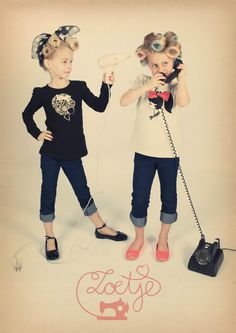 Love! I really need to do this to my niece one of these days --JC;) RE: Zoetje Nozem rockabilly vintage retro fifties girls boys kids baby 50's
