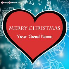 Happy Merry Christmas Wishes With Name Pictures - Create Card Online