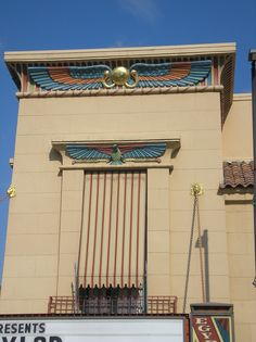 The old Egyptian Theater front corner detail  Boise, Idaho  photo by Steve Golse