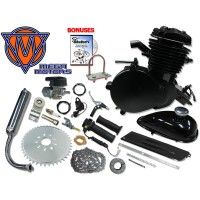66/80cc Mega Motors Black  Bicycle Engine Kit- 2 Stroke