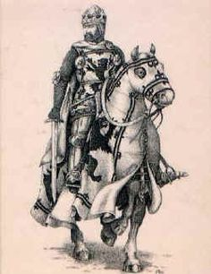 """ROBERT de BRUS 1st LORD BRUS 6th Lord of Annandale 1243-1304 son of ROBERT de BRUCE """"The Competitor"""" and ISABELLA de CLARE of Gloucester and Hertford.  27 year old ROBERT de BRUS was in the Ninth Crusade when Adam de Kilconquhar, one of his companion-in-arms fell in 1270. Robert was obliged to travel to tell Adam's widow MARJORIE of CARRICK. Marjorie was so taken with him that she held him captive until he agreed to marry her-he did in 1271. Parents of KING ROBERT THE BRUCE. 21st G…"""