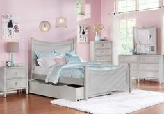 Jaclyn Place Gray 5 Pc Full Bedroom. $877.00.  Find affordable Bedroom Sets for your home that will complement the rest of your furniture. #iSofa #roomstogo