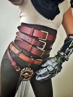 Imperator Furiosa Set of Three Premium Leather Belts Corset High Waist Cosplay Custom Made