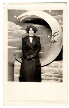 Paper Moon Lady Small Saturn RPPC Photo Postcard | eBay