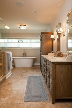 #Dilwyne Designs - master bathroom redo with #Mirror Image and #Robert Abbey and #Resoration Hardware