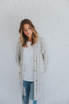 Marled Cable-knit Sweater – cladandcloth