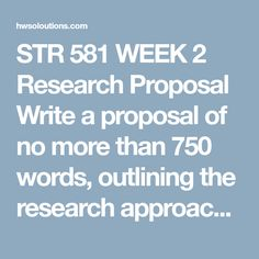 How To Write A Research Proposal  Research    Proposals