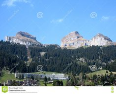 Photo about This is the famous town of Davos Switzerland where the UN nations gather for the annual World Economic Forum. Image of world, switzerland, - 71477671 World Economic Forum, Davos, Switzerland, Mount Everest, Stock Photos, Mountains, Travel, Image, Viajes