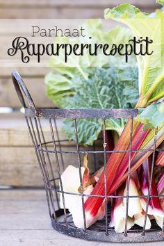 Raparperin satokausi on nyt - helppo raparperimehu - ku ite tekee Just Eat It, Rhubarb Recipes, Sweet Pie, Fruits And Vegetables, Farmers Market, Food To Make, Cake Recipes, Good Food, Fun Food