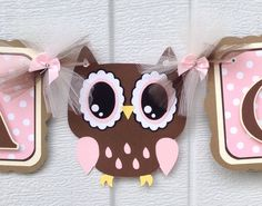 Owl baby shower brown owl decorations owl by NancysBannerBoutique