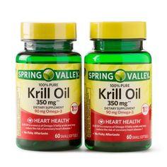 Spring Valley Krill Oil for Heart Health, 350 Mg, 60 Ct, 2 Pack Vitamin B12 Tablets, Turkey Burger Recipes, Krill Oil, Spring Valley, Fish Oil, The Cure, Healthy, Heart Health, Squash