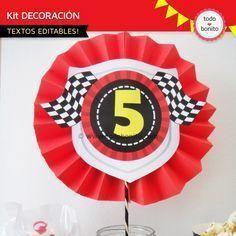 Autos de Carrera: decoración de fiesta para imprimir - Todo Bonito