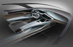 Audi e-tron quattro concept - Interior Design Sketch