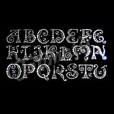 Rhinestone Stock Design Iron on Alphabet Motifs For Tshirts