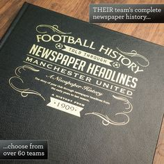 Football Book70th Birthday Gift Ideas Personalised 70th Gifts Inspirational