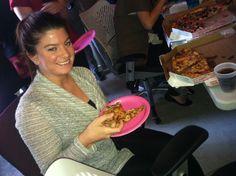 SocialKaty pizza party! #SMChicago
