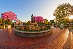 "Another Disneyland sunrise photo! Also, we added a ""Pin It"" button to our website for Pinterest!!!"
