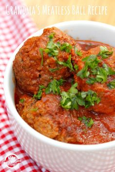 These meatless meat balls are one of my family's favorite dinners - Grandma's Meatless Ball Recipe!