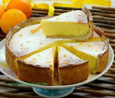 ricotta y naranja pastel
