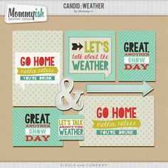 Free Candid Weather Filler Cards and Elements from Mommyish
