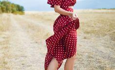 The hippie chic long dress – thousand ideas how to adopt it - Mode et Beaute Vestidos Vintage, Vintage Dresses, Vestido Dot, Look Hippie Chic, Photos Of Dresses, Red Polka Dot Dress, Polka Dots, Red Dots, Dress Stand
