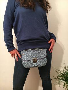 Bolso de Cadera Riñonera Bandolera de diseño: Blue & por CAOMKA