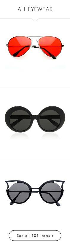 """ALL EYEWEAR"" by prettyposh ❤ liked on Polyvore featuring accessories, eyewear, sunglasses, glasses, lens glasses, retro aviator sunglasses, tinted lenses glasses, retro style sunglasses, tinted glasses and black"