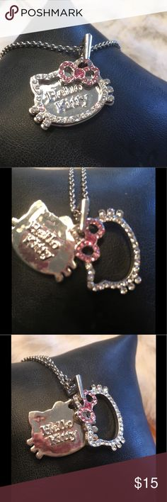 Hello Kitty Pendant & Chain Dual plate pendant on 19 inch chain Hello Kitty Jewelry Necklaces