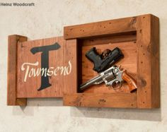 concealed hidden gun compartment pallet wood by UpTheCreekRustic