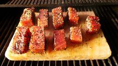 Seared Tuna on a Himalayan salt block - recipe.