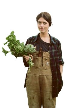 cut out png gardener girl close-up