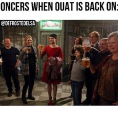 OUAT.There's not nearly enough celebrating going on. Where are the the people screaming and jumping up and down? Oh, wait. Thats me.