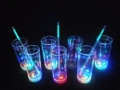 Light up drinking glasses and glowing bar products. Add glow to your party with a large variety of light up LED drink glasses and glowing barware supplies. Glow Party Outfit, Sweet Fifteen, Sweet 16, Diy Galaxy, Neon Party, Neon Glow, Ideas Para Fiestas, Party Cups, 15th Birthday