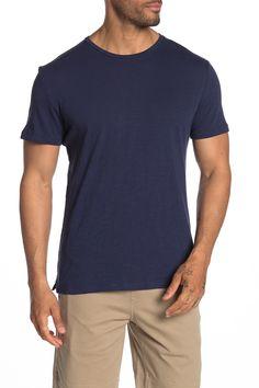SLATE & STONE Slub Knit Crew T-Shirt. #slatestone #cloth Slate Stone, Basic Tees, Crew Neck, Short Sleeves, Nordstrom, Mens Fashion, Suits, Knitting, Mens Tops
