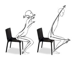 The majority of people, whether they realize it or not, get of of their chairs pulling their heads back and down...
