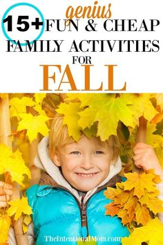 Genius & Cheap Family Activities For an Amazing Fall - Fall. It's the perfect time for some fall activities with your kids whether they are toddlers, te - Autumn Activities For Kids, Family Activities, Outdoor Activities, Frugal Family, Frugal Living, Mother Daughter Dates, Mothers Of Boys, Toddler Fun, Family Traditions