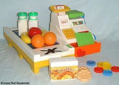 Fisher-Price Cash Register with conveyor belt.