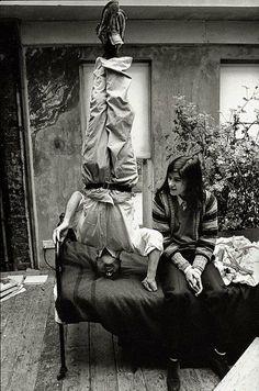 Lucian Freud & Bella Freud.