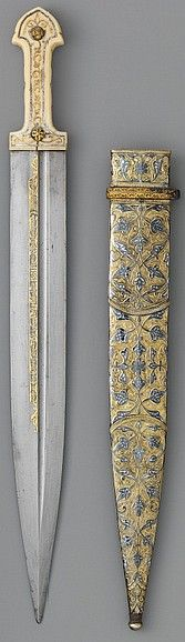 Indo-Persian qama (double edged straight dagger), 19th century, Edward C. Moore Collection, Bequest of Edward C. Moore, 1891. Metropolitan Museum of Art, New York.