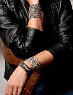 Clics Leather Jacket Liquid Metal Jewelry By Sergio Gutierrez
