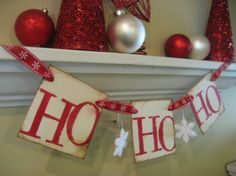 Christmas Decoration HO HO HO Santa Garland Banner on Etsy, $15.00