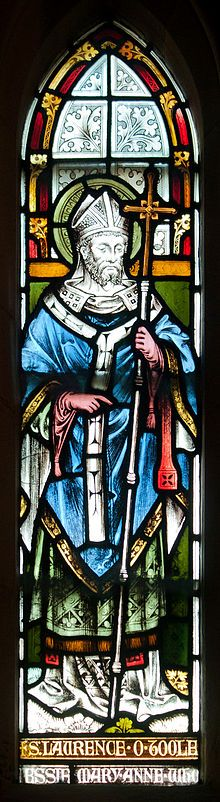 Lawrence O'Toole (Lorcan ua Tuathail; also spelled Laurence O'Toole) Confessor, born about in the present County Kildare; died 14 November, at Eu in Normandy; canonized in 1225 by Honorius III. His father was chief of Hy Murray, The 5th Of November, 14 November, St Louis De Montfort, Happy Feast Day, Life Of Jesus Christ, Prayers To Mary, Benedictine Monks, Catholic Saints, Roman Catholic