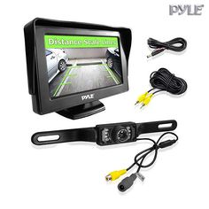 "LCD Monitor & Rear View License Plate Night Vision Back-Up Camera Parking Assist System with 4.3"" Screen"