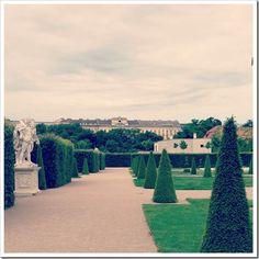 sculptures, gardens and cascades.. Belvedere gardens, Vienna