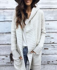LOVE!! chunky knit sweater- cozy, comfy, clothes, cardigan, fall, casual jacket