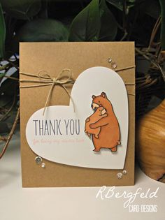 Rachel's Card Corner: Mother's Day and More Sushi! - Mama Elephant, Bear Hugs